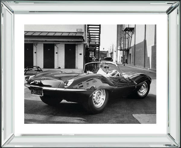 "Bild mit Rahmen ""Steve McQueen Jaguar"", 56x46cm"