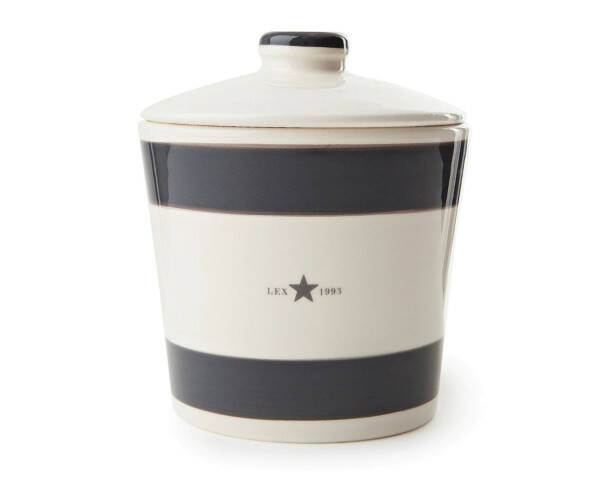 Lexington Earthenware Cookie Jar, Grau