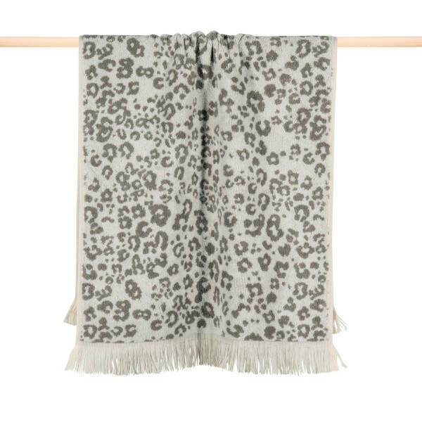 Handtuch LEOPARD 100x1800 charcoal grey
