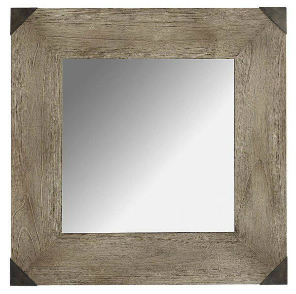 Artwood Vintage Mirror, Java Oak 80x80