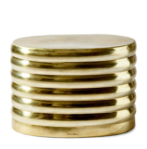 Pouf Times Square Oval Gold