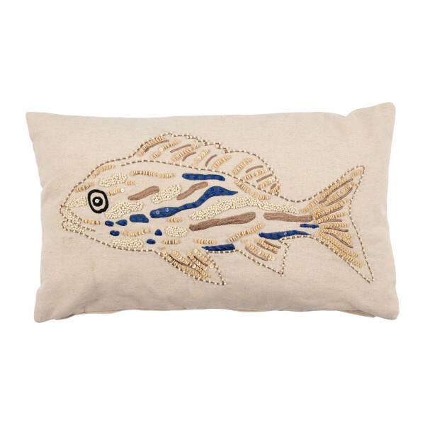 Kissenbezug Fisch Amrik, beige