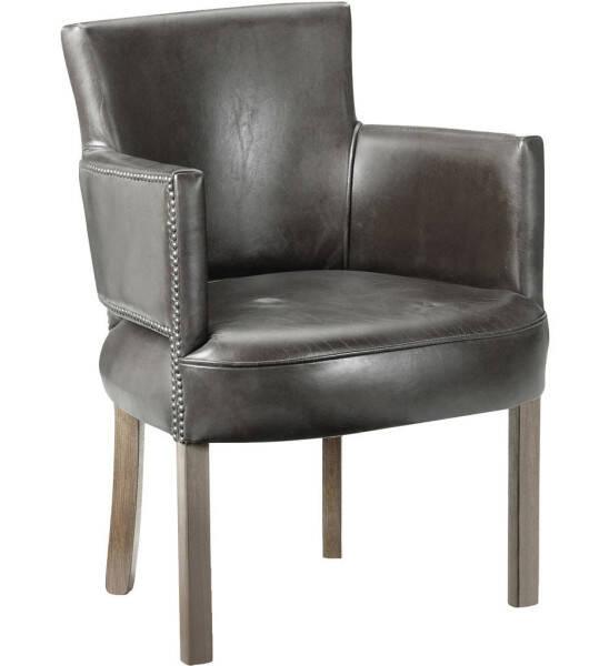 Artwood Newark Armchair, Leather Fudge