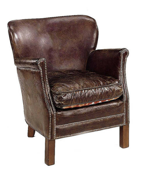 Artwood Professor Armchair, Vintage Leather Cigar