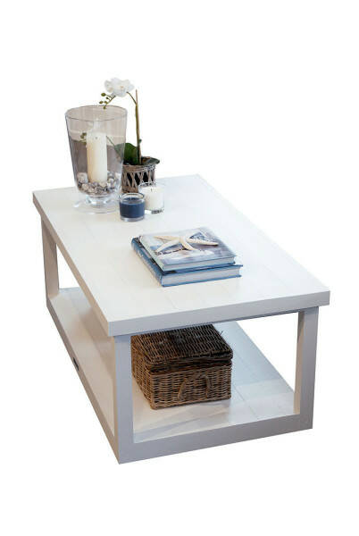 Oceanhouse Wesley Coffee Table, White, 100x55
