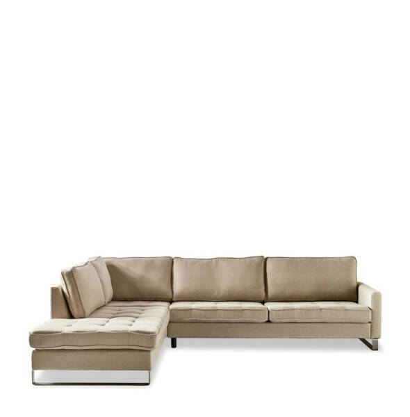 Eck-Sofa West Houston CL links, Oxford Weave