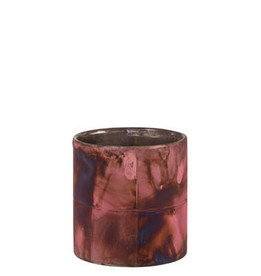 J-Line Windlicht Zylinder Pink/Blau S