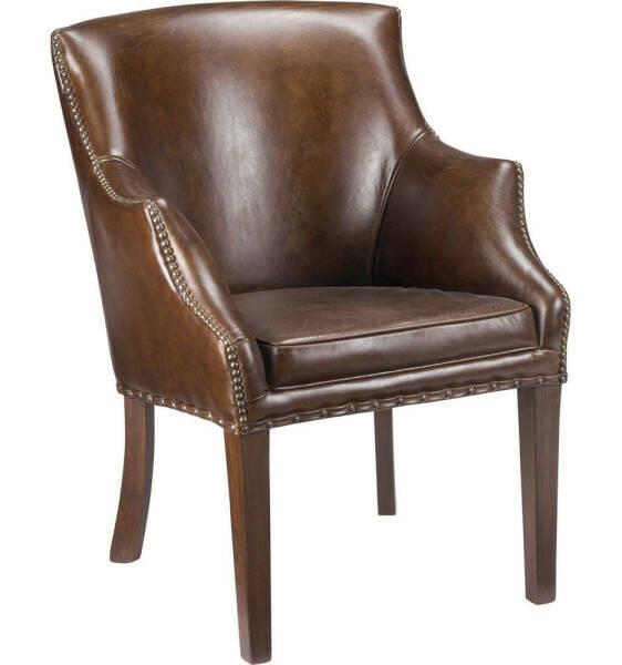 Artwood Waterfall Armchair, Vintage Leather Cigar