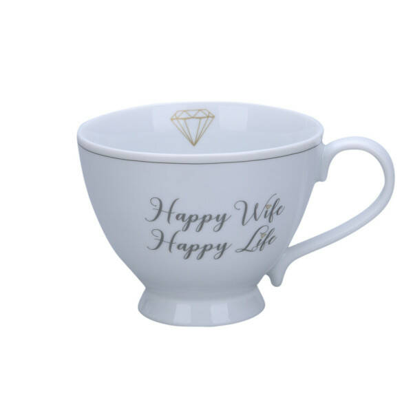 Tasse Happy Chic Happy Wife, Happy Life