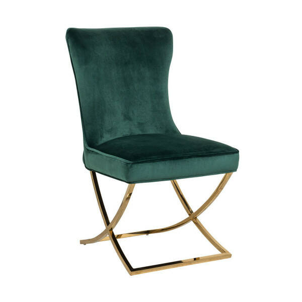 Richmond Stuhl Scarlett Green velvet / gold