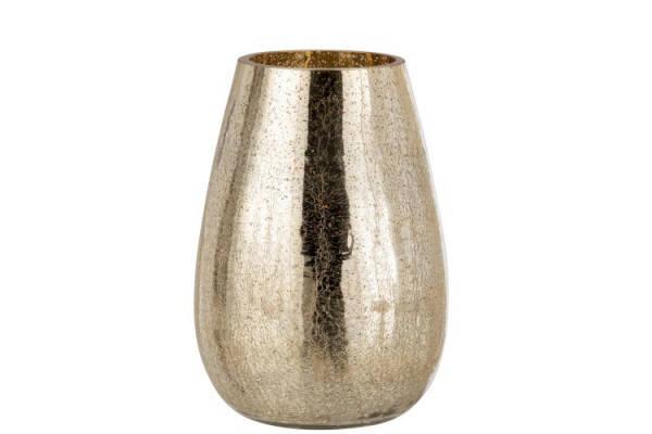 Windlicht Craquel , Gold, L, 19x19x26cm
