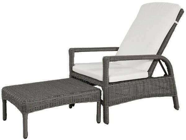 Artwood Tampa Sunchair, All Weather Wicker Vintage