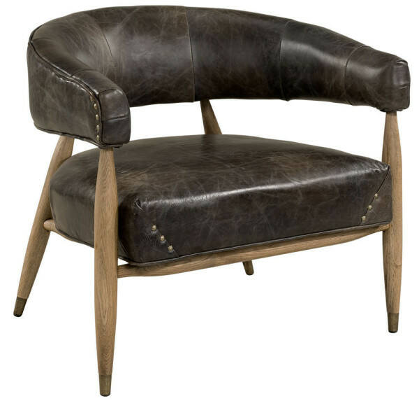 Artwood Angel Armchair, Leather Fudge