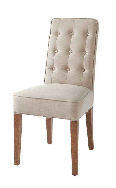 Cape Breton Dining Chair Linen Flax