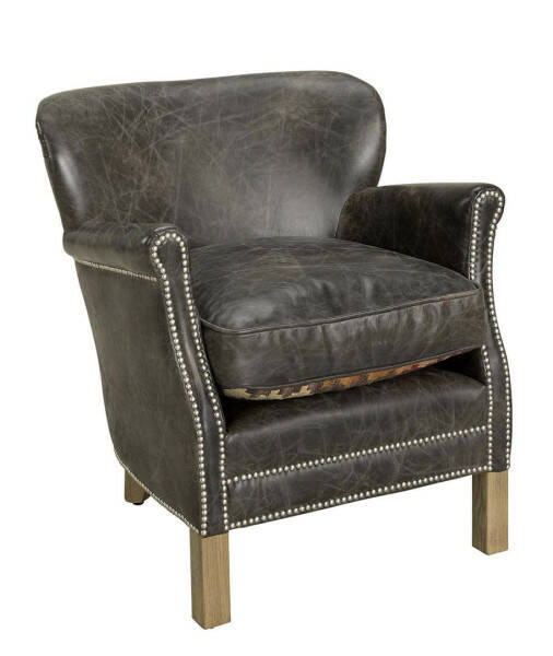 Artwood Professor Armchair, Leather Fudge