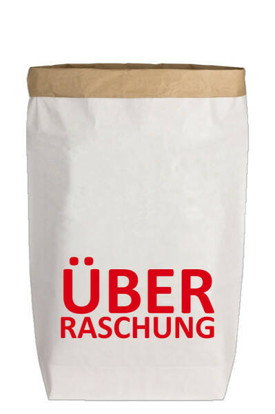 "Paperbags L Weiß ""ÜBERRASCHUNG"", Rot"