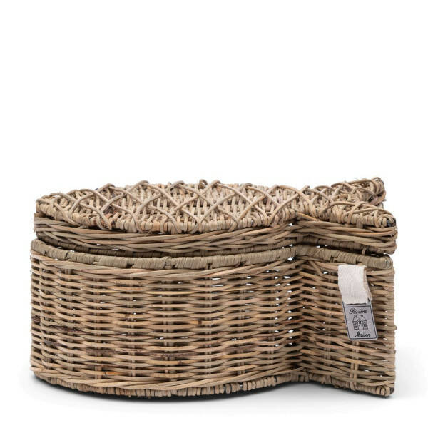 Korb Rustic Rattan Tropical Fish S