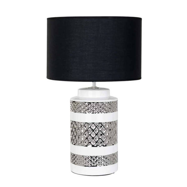 Tischlampe Aurora inkl. Lampenschirm schwarz