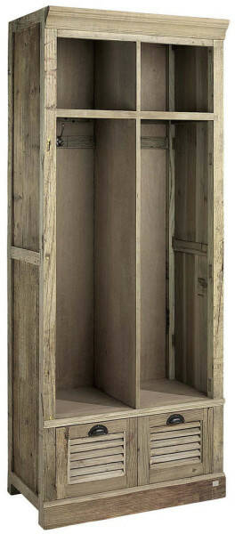 Artwood Elmwood Open Cabinet, Solid Elm