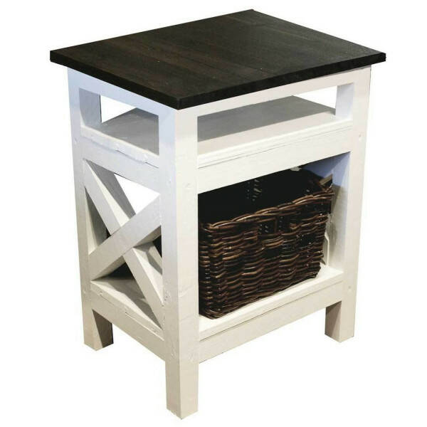 Ocean House Side Table Jeffrey 47x39 64cm hoch Lodge Top