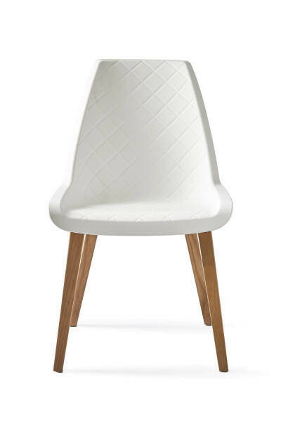 Amsterdam City Dining Chair, Pure White